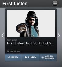 Bun NPR Premiere
