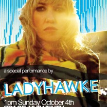 Ladyhawke Performance for Urban Outfitters at Space 1520, Hollywood California. Artwork by Camp Design Group.